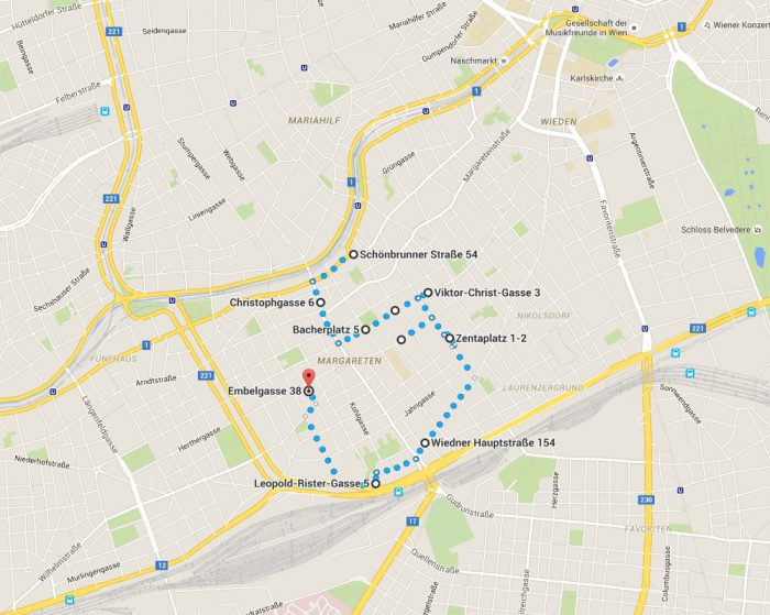 GreenWalk – es grünt so grün in Wien Plan
