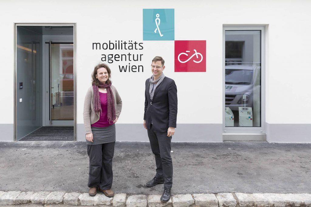 Treffen Sie Petra Jens, Beauftragte für Fußverkehr und Martin Blum, Radverkehrsbeauftragter in der Mobilitätsagentur Wien