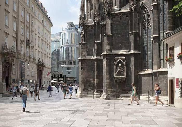 Visuelle Darstellung des Stephansplatzes nach dem Umbau. Copyright: Kirsch ZT gmbh