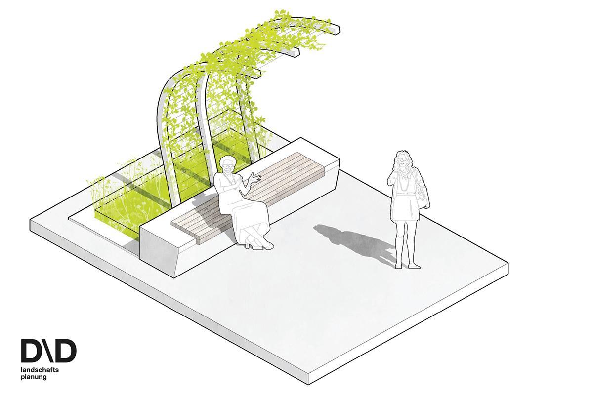 Neubau Projektvorstellung Klimaschutz Vorzeigestraße Bezirksvorstehung Neubau DDLandschaftsplanung