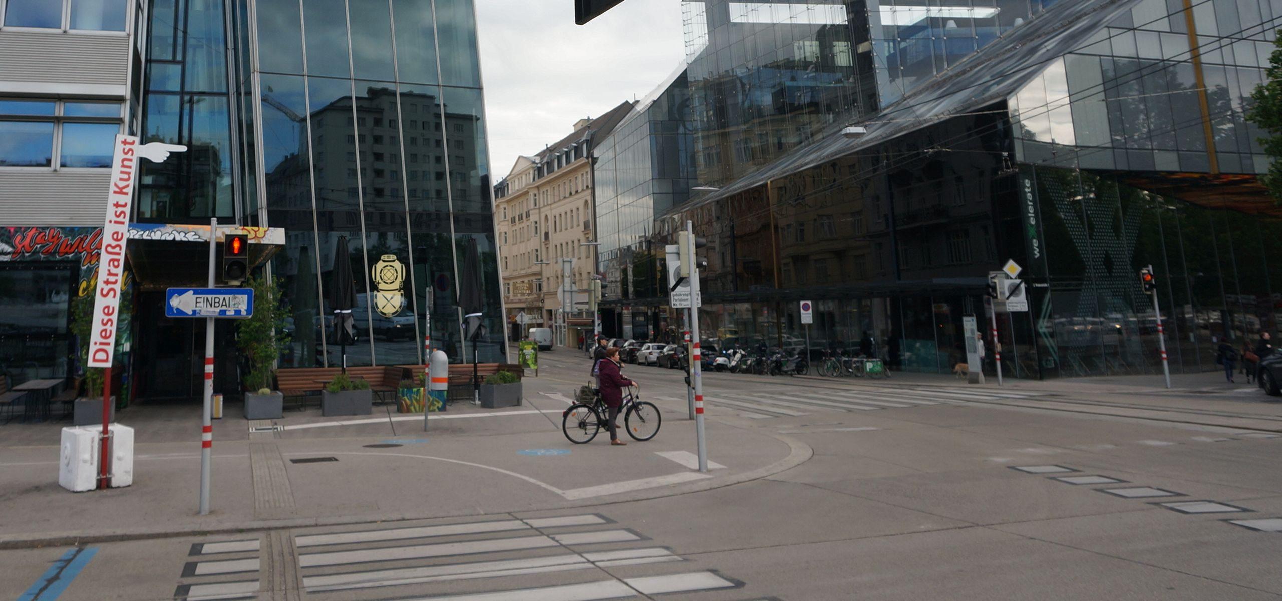 Diese Straße ist Kunst. Kunstprojekt auf der Taborstraße.