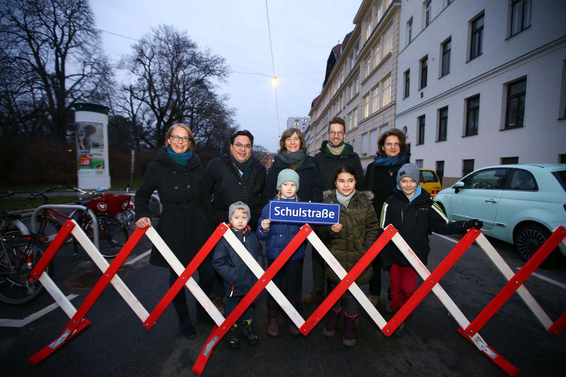Wien hat nun 5. Schulstraßen. Die neueste in der Märzstraße in Penzing.