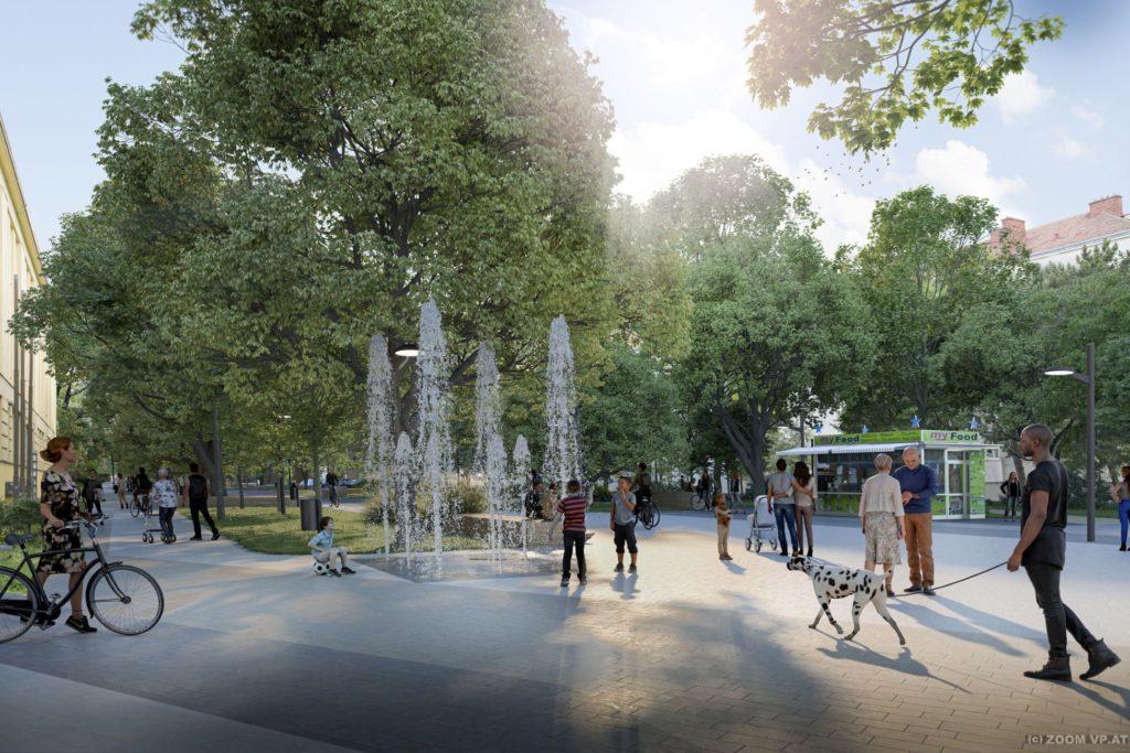 Visualsierung zur Umgestaltung der Franklinstraße.