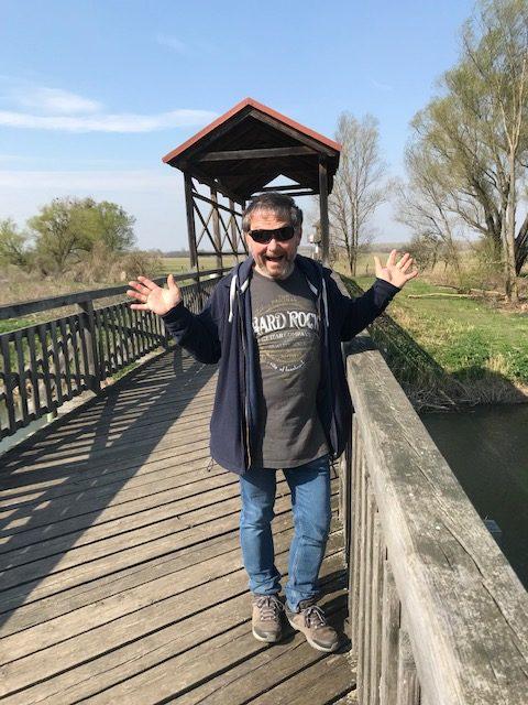 Gerhard auf der Brücke in Andau