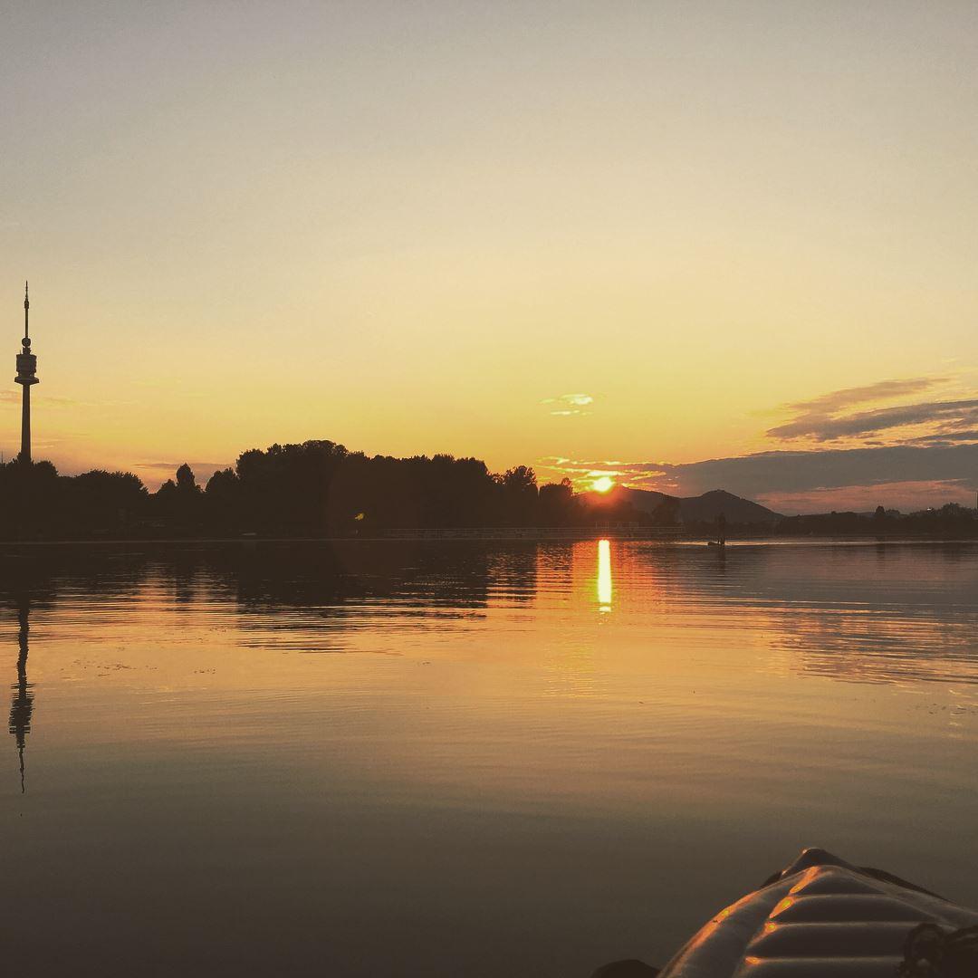 Sonnenuntergang auf der Alten Donau