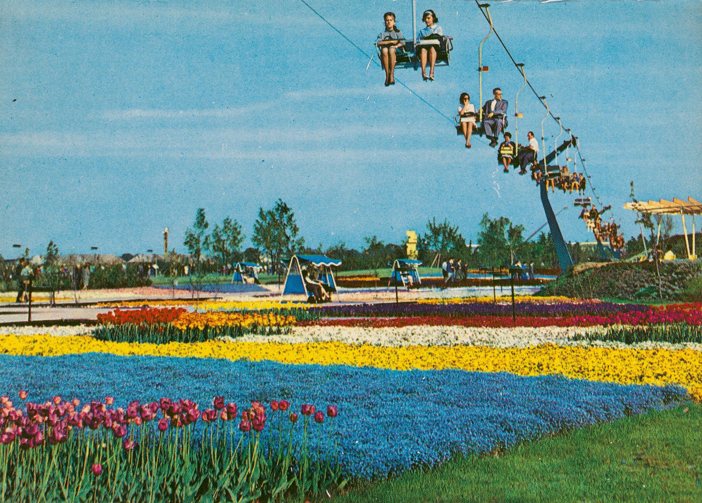 Sessellift über den Gartenschau im Donaupark